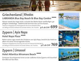 TOP Angebot Griechenland & Zypern