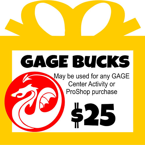 GAGE Bucks Gift Card