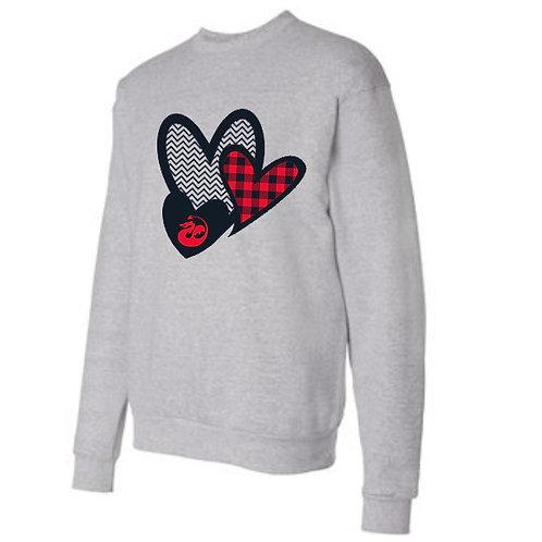 Triple Heart Sweatshirt