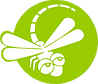 dragonfly logo green white.png