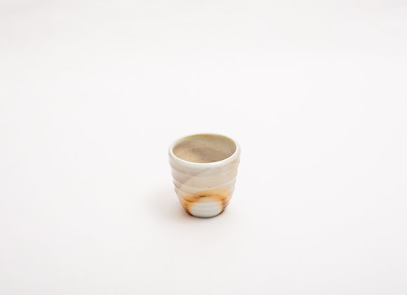 Porzellan Espresso Tasse Nr.12 handgetöpfert, Holzbrand