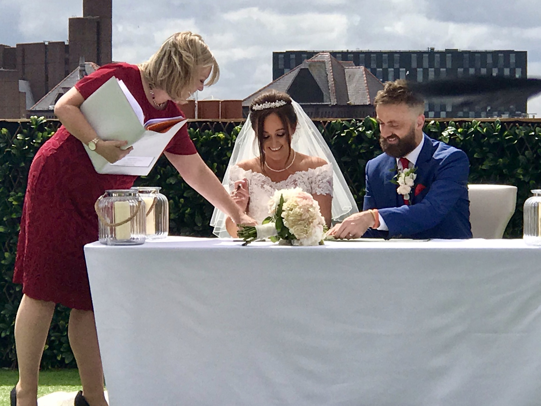 Liverpool Rooftop Wedding Celebrant, Lorraine Hull
