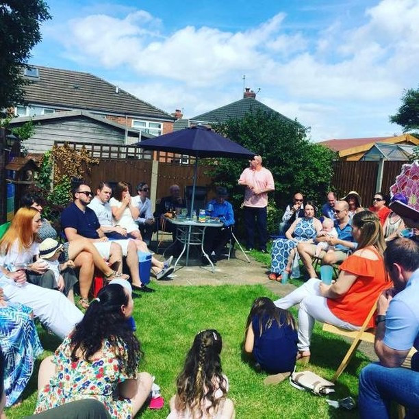 Liverpool Celebrant Baby Naming ceremony, held at the family's home...