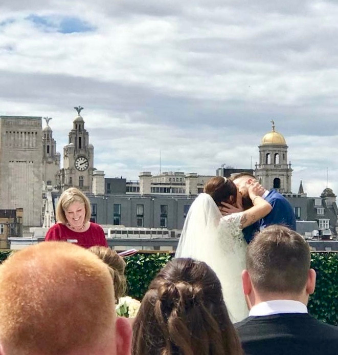 First rooftop wedding ever held at Shankly Hotel, Liverpool