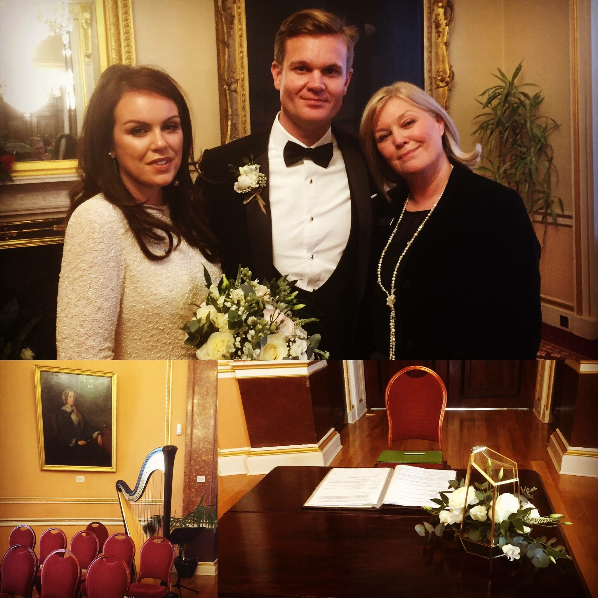 Elegant Liverpool Town Hall Wedding Celebrant, Lorraine Hull