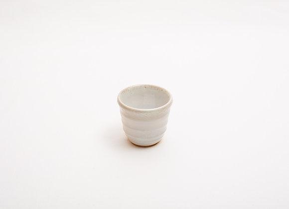 Porzellan Espresso Tasse Nr.14 handgetöpfert, Holzbrand