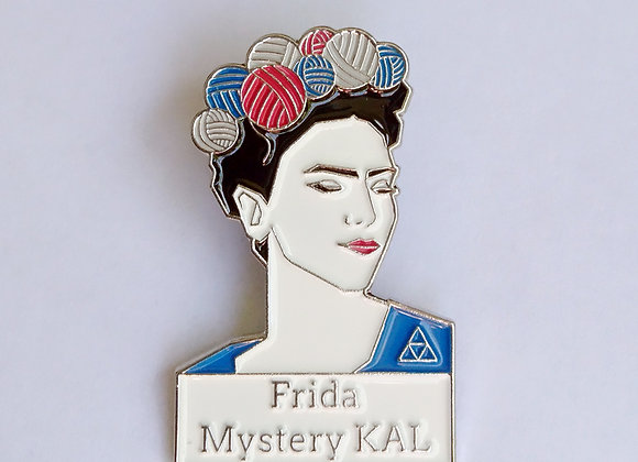 """Emaille- Pin """"Frida Mystery KAL"""""""