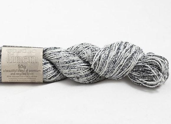 Studio Linen - Print Flinty Black and White