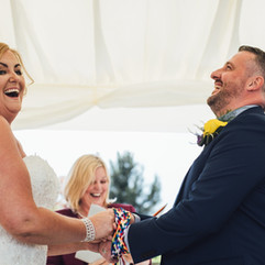 Real Celebrant Wedding: Andrea & Keith's Outside Wedding, at Oaklea Barns, Lydiate