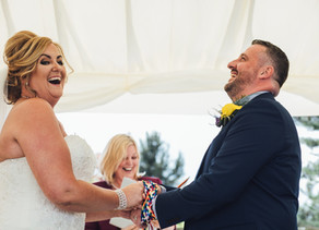 Real Celebrant Wedding: Andrea & Keith's Outside Wedding, at Oaklea Barns, Lydiate