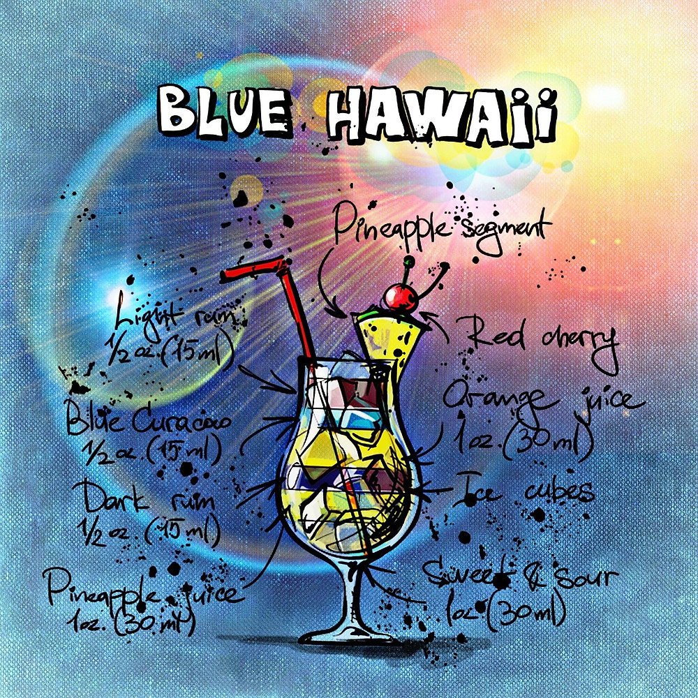 Blue Hawaii Cocktail