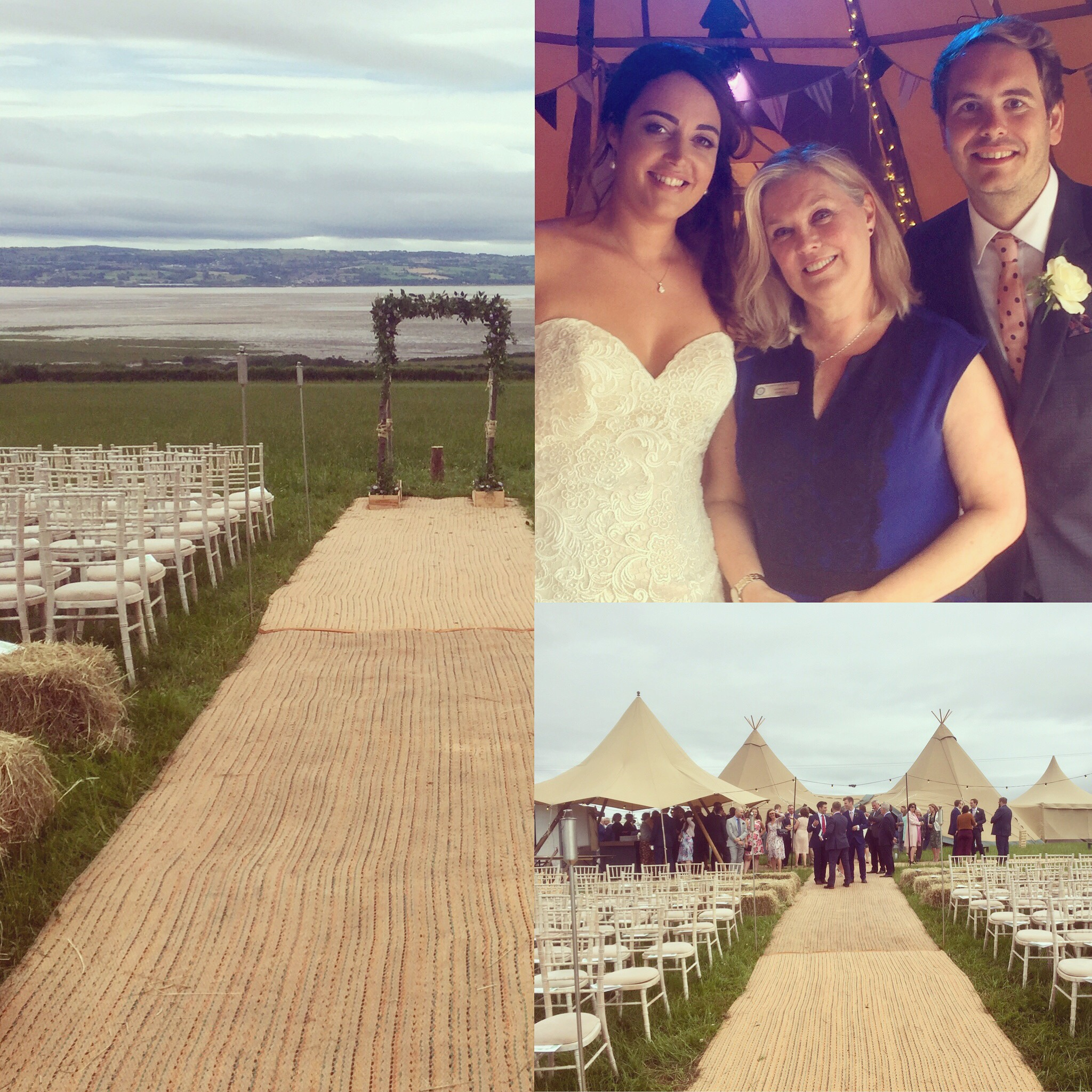 Wirral wedding, overlooking the River Dee