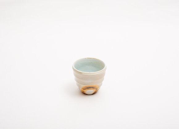 Porzellan Espresso Tasse Nr.11 handgetöpfert, Holzbrand