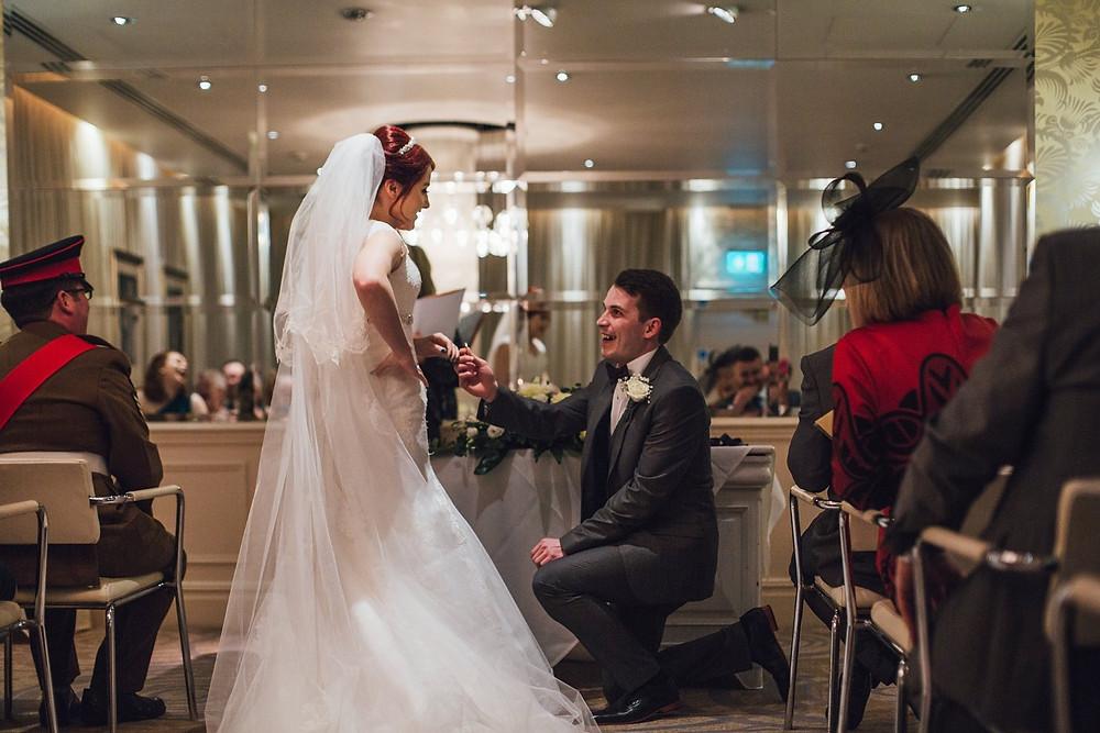 Wedding proposal, at the wedding!