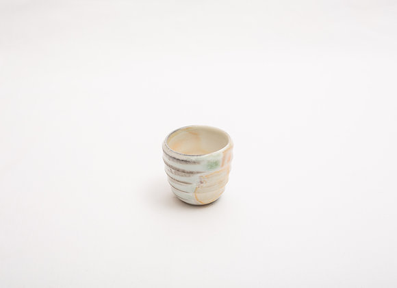 Porzellan Espresso Tasse Nr.16 handgetöpfert, Holzbrand