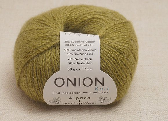 Onion Alpaca Merino Nettles - 1219 Olivengron