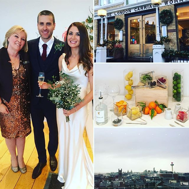UK wedding in Liverpool, with gin bar, for couple from Aydney Australia