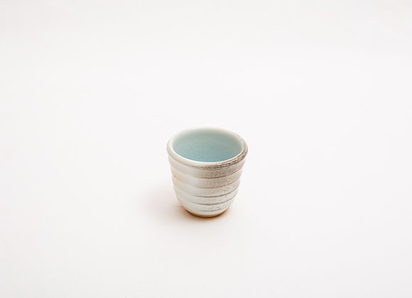 Porzellan Espresso Tasse Nr.15 handgetöpfert, Holzbrand