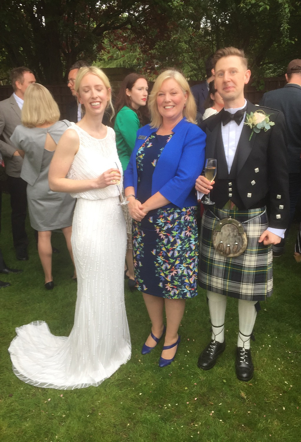 Drinks in the garden, following a Liverpool Celebrant Wedding