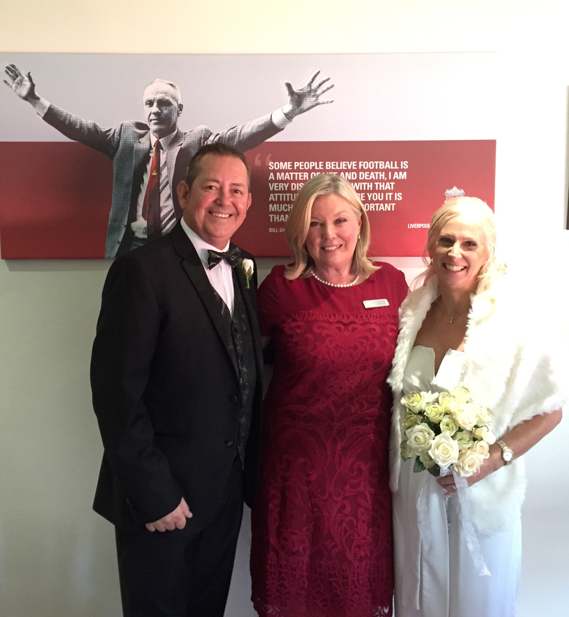 Liverpool Football Club Wedding Celebrant, Lorraine Hull