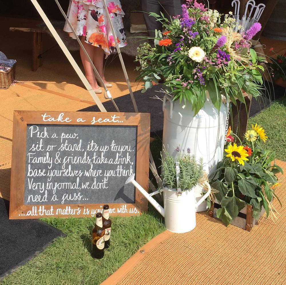 Lorraine Hull, Cheshire festival wedding on farm