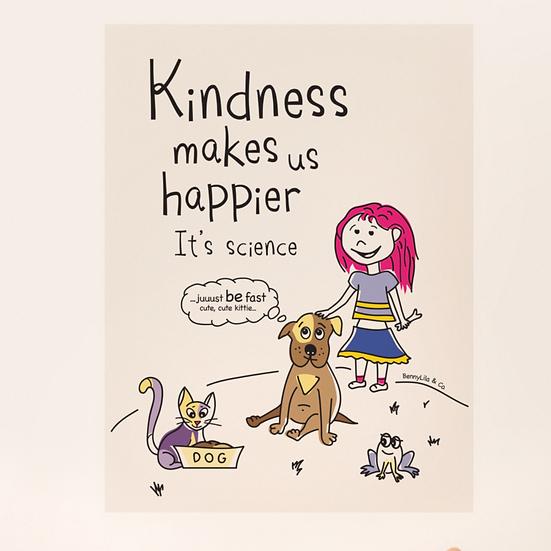 Sticker - Lila and Bernini the dog show kindness