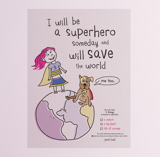 Sticker - Lila wants to be a superhero