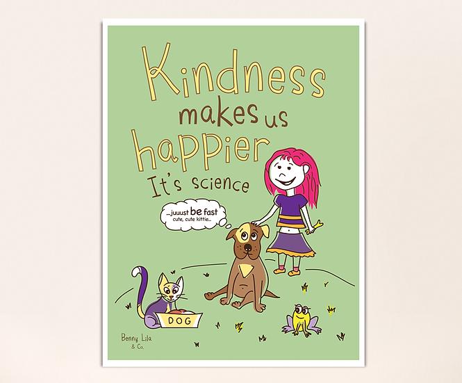 Poster - Lila and Bernini the dog show kindness