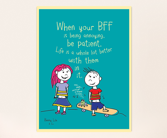 Poster - Best Friends can also argue