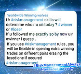 Risk Management is the First quality to have sucess Forex Trades