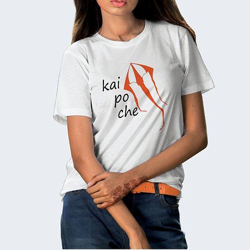 Hinglish Kai Po Che Round Neck T-Shirt - White