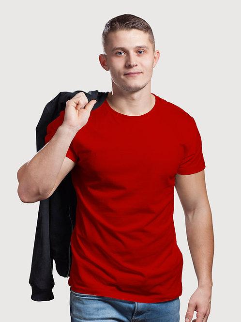 Hinglish Plain Round Neck T-Shirt - Red