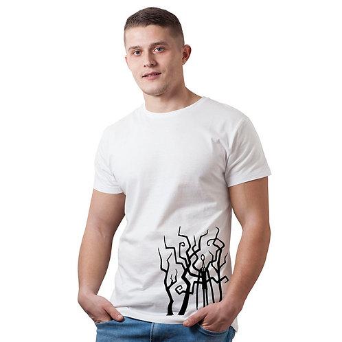 Hinglish Men's Printed Round Neck T-Shirt - White