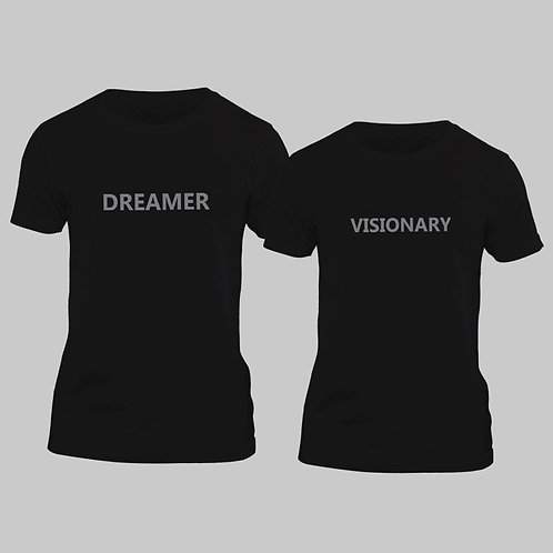 Hinglish Valentine Day Dreamer Visionary Couple T-shirt