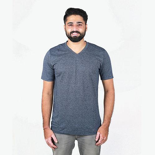 Hinglish Men's V-Neck T-Shirt -Dark Grey