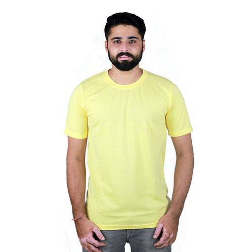 Hinglish Plain Round Neck T-Shirt - Lemon Yellow