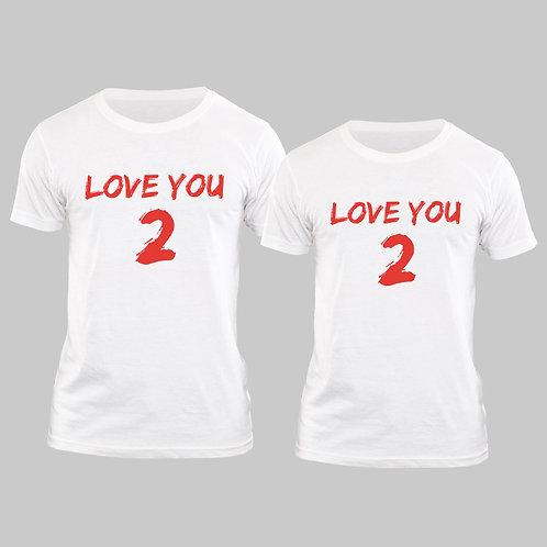 Hinglish Valentine Day Love You Couple T-shirt