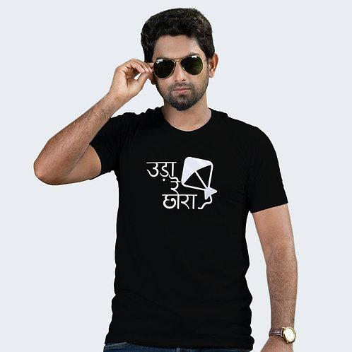 Hinglish Patanag Uda Re Round Neck T-Shirt - Black