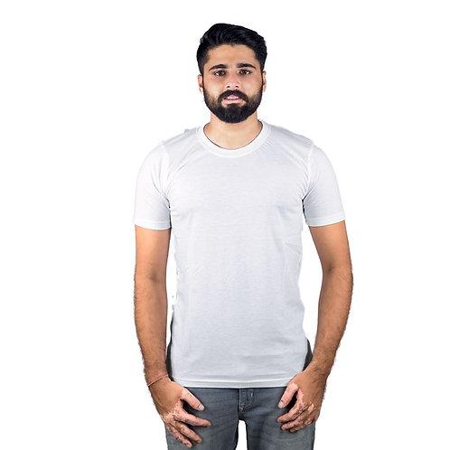 Hinglish Plain Round Neck T-Shirt - White