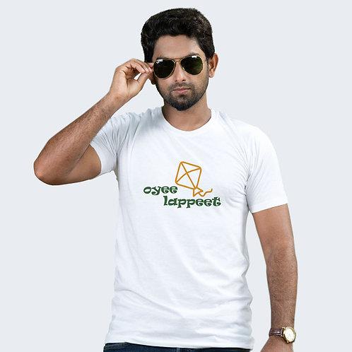 Hinglish Oyee Lappeet Round Neck T-Shirt -White