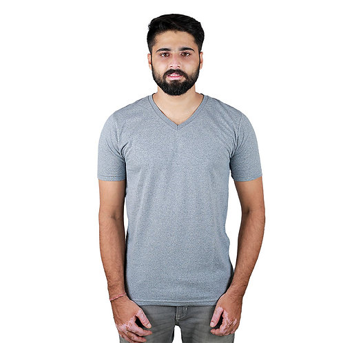 Hinglish Men's V-Neck T-Shirt - Grey