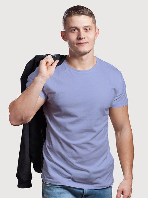 Hinglish Plain Round Neck T-Shirt - Sky Blue