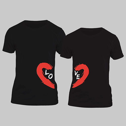 Hinglish Valentine Day Love You Couple T-shirt