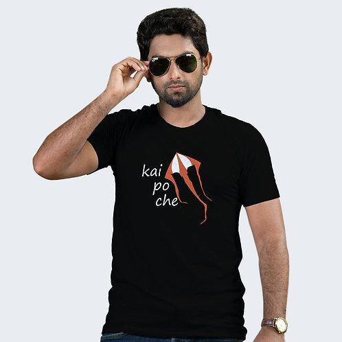 Hinglish Kai Po Che Round Neck T-Shirt - Black