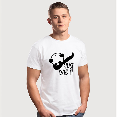 Hinglish Panda Dab Round Neck T-Shirt -White