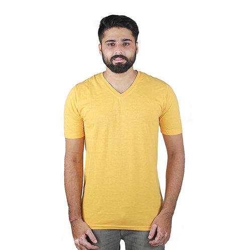 Hinglish Men's V-Neck T-Shirt -Yellow