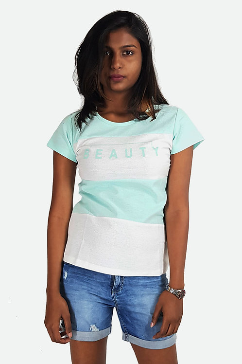 Hinglish WOMEN'S Designer Round Neck T-Shirt - Light Green