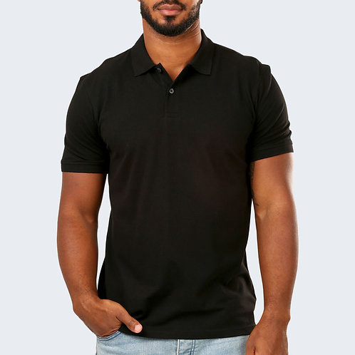 HINGLISH MEN BLACK POLO T-SHIRT