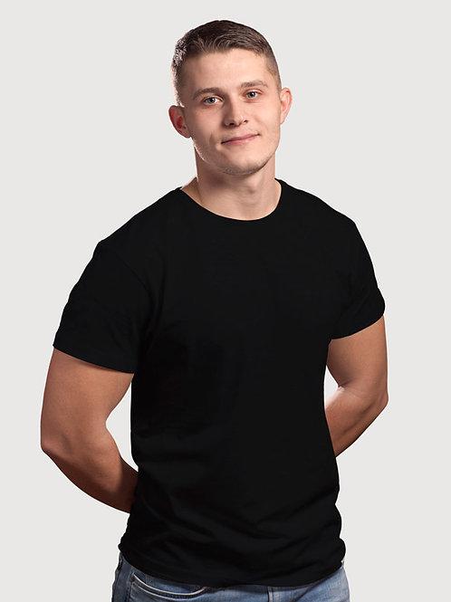 Hinglish Plain Round Neck T-Shirt - Black