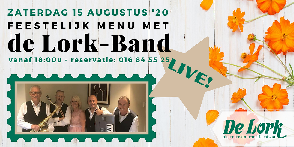 Feestelijk menu met de Lork-Band